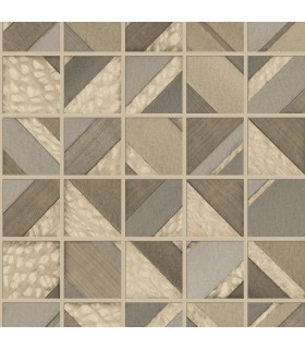 MM1748 - Mixed Materials Wallpaper by York-Patchwork Tile