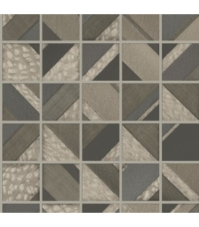 MM1749 - Mixed Materials Wallpaper by York-Patchwork Tile