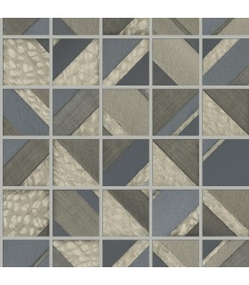 MM1751 - Mixed Materials Wallpaper by York-Patchwork Tile