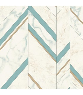 MM1802 - Mixed Materials Wallpaper by York-Marble Chevron