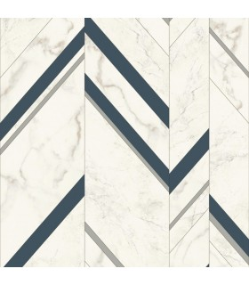 MM1804 - Mixed Materials Wallpaper by York-Marble Chevron