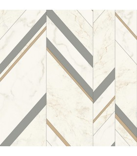 MM1803 - Mixed Materials Wallpaper by York-Marble Chevron