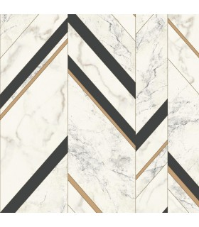 MM1805 - Mixed Materials Wallpaper by York-Marble Chevron