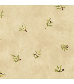 KK26718 - Creative Kitchens Wallpaper by Norwall-Olive Branch