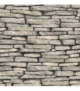 FD23275 - Brewster Essentials Wallpaper-Ledge Grey Slate