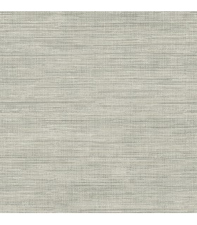 FD23285 - Brewster Essentials Wallpaper-Island Grey Faux Grasscloth