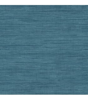 FD23286 - Brewster Essentials Wallpaper-Sea Grass Blue Faux Grasscloth