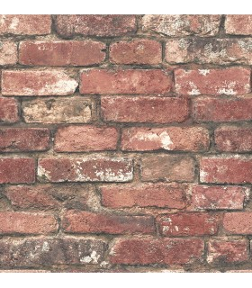 FD23287 - Brewster Essentials Wallpaper-Loft Red Brick