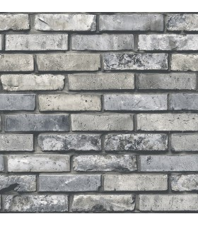 FD23288 - Brewster Essentials Wallpaper-Painted Grey Brick
