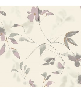SO2443 - Tranquil Wallpaper by Candice Olson-Linden Flower