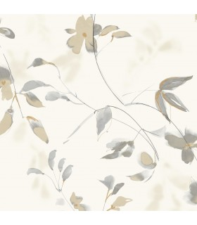 SO2444 - Tranquil Wallpaper by Candice Olson-Linden Flower