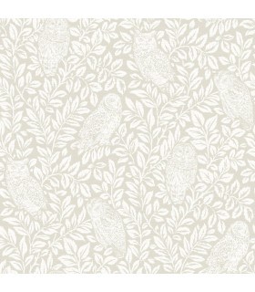3115-12413 - Farmhouse Wallpaper-Parliament Cream Owl