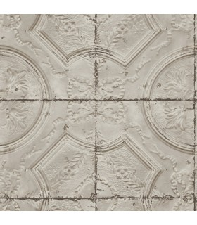 3115-12433 - Farmhouse Wallpaper-Vintage Tin Tile