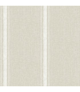 3115-12463 - Farmhouse Wallpaper-Linette Fabric Stripe