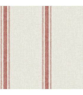 3115-12464 - Farmhouse Wallpaper-Linette Fabric Stripe