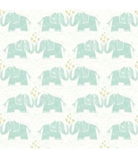 WI10100 - Dream Big Wallpaper by York - Elephants Love