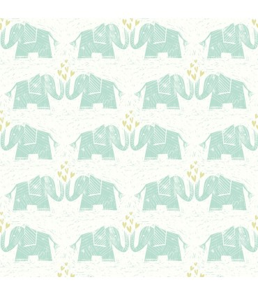 WI0100 - Dream Big Wallpaper by York - Elephants Love