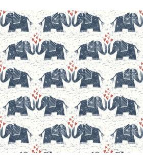 WI0101 - Dream Big Wallpaper by York - Elephants Love