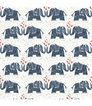 WI0101 - Dream Big Wallpaper by York - Elephants Love
