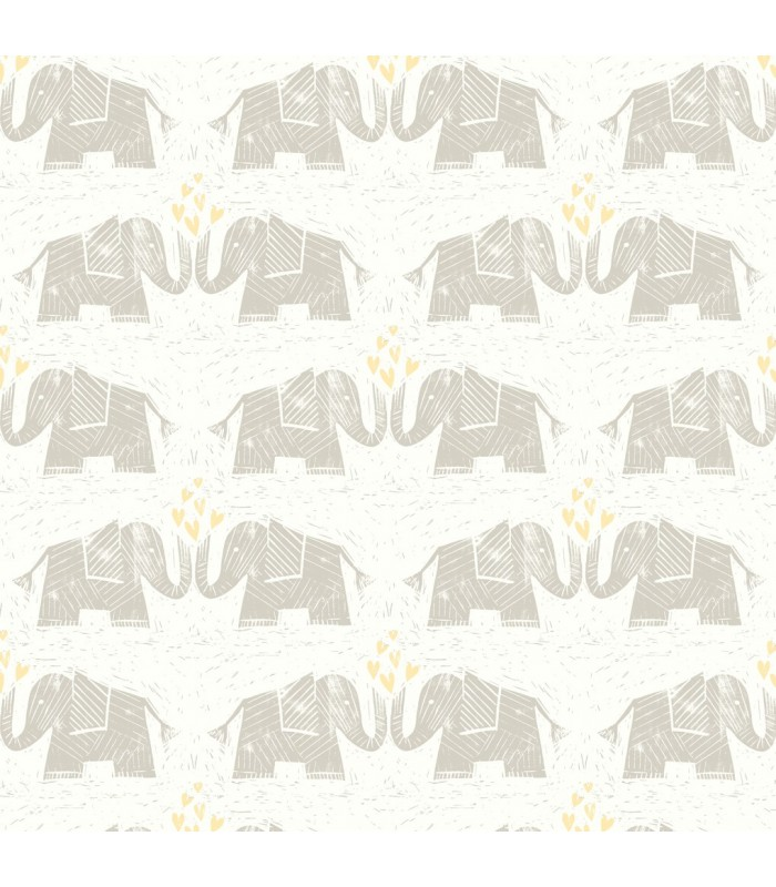 WI0102 - Dream Big Wallpaper by York - Elephants Love