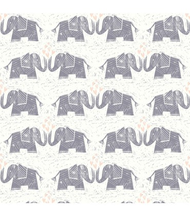 WI0103 - Dream Big Wallpaper by York - Elephants Love