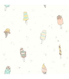 WI0106 - Dream Big Wallpaper by York - Ice Cream