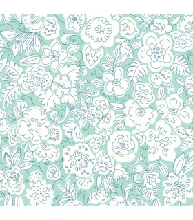 WI0121 - Dream Big Wallpaper by York - Doodle Garden