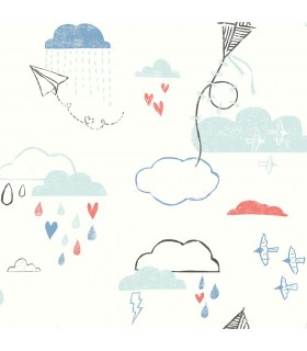 WI0126 - Dream Big Wallpaper by York - Kites in the Clouds