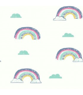 WI0131 - Dream Big Wallpaper by York - Chasing Rainbows