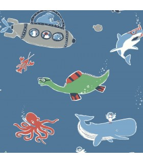 WI0187 - Dream Big Wallpaper by York - Underwater Exploration