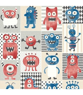 WI0190 - Dream Big Wallpaper by York - Monster Party