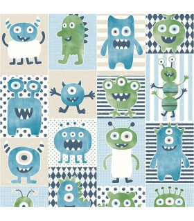 WI0191 - Dream Big Wallpaper by York - Monster Party