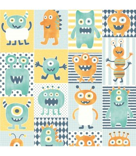 WI0192 - Dream Big Wallpaper by York - Monster Party