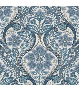 2763-12102 - Moonlight Wallpaper by A-Street Prints-Damask