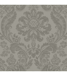 2763-87313 - Moonlight Wallpaper by A-Street Prints-Flocked Damask