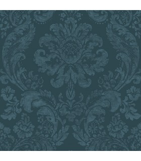 2763-87310 - Moonlight Wallpaper by A-Street Prints-Flocked Damask