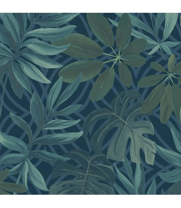 2763-24201 - Moonlight Wallpaper by A-Street Prints-Nocturnum Leaf