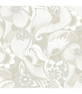 FB1422 - Florence Broadhurst Wallpaper by York - Aubrey