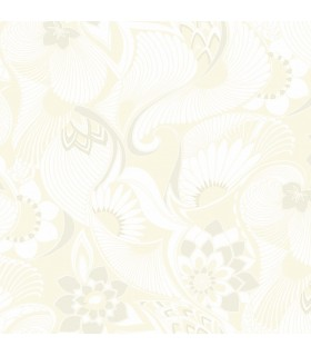 FB1423 - Florence Broadhurst Wallpaper by York - Aubrey