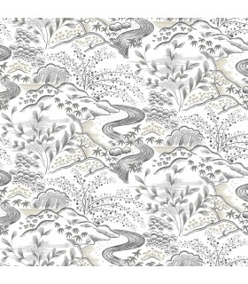 FB1436 - Florence Broadhurst Wallpaper by York - Oriental Filigree