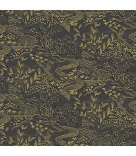 FB1437 - Florence Broadhurst Wallpaper by York - Oriental Filigree
