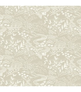 FB1439 - Florence Broadhurst Wallpaper by York - Waterfall Gardens