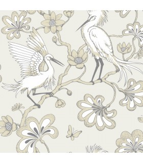 FB1448 - Florence Broadhurst Wallpaper by York - Egrets
