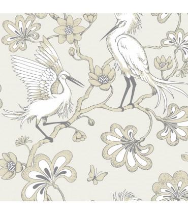 FB1448 - Florence Broadhurst Wallpaper by York - Egrets