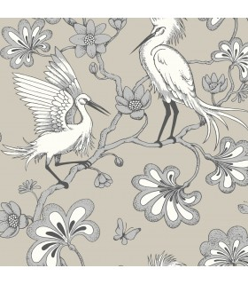 FB1449 - Florence Broadhurst Wallpaper by York - Egrets