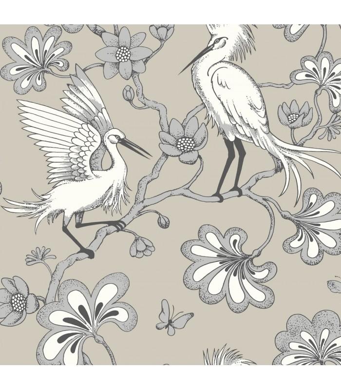 FB1449 - Florence Broadhurst Wallpaper by York - Egrets