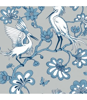 FB1450 - Florence Broadhurst Wallpaper by York - Egrets