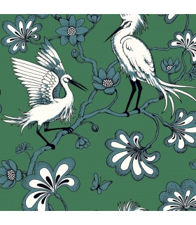 FB1451 - Florence Broadhurst Wallpaper by York - Egrets