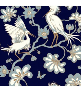FB1452 - Florence Broadhurst Wallpaper by York - Egrets