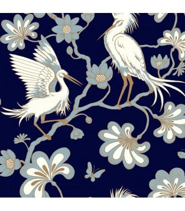 FB1452 - Florence Broadhurst Wallpaper by York - Egrets